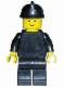 Minifig No: fire005  Name: Plain Black Torso with Black Arms, Black Legs, Black Fire Helmet