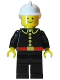 Minifig No: firec001  Name: Fire - Classic, White Fire Helmet