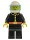 Minifig No: firec003  Name: Fire - Classic, White Helmet, Trans-Light Blue Visor