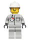Minifig No: firec007  Name: Fire - Air Gauge and Pocket, Light Gray Legs, White Fire Helmet