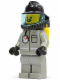 Minifig No: firec011  Name: Fire - Air Gauge and Pocket, Light Gray Legs, Black Fire Helmet