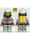 Minifig No: firec014  Name: Fire - City Center 5, Light Gray Legs with Black Hips, White Fire Helmet, Airtanks