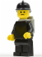 Minifig No: firec019  Name: Fire - Old, Black Fire Helmet, Light Gray Airtanks