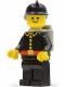 Minifig No: firec024  Name: Fire - Classic, Black Fire Helmet, Light Gray Airtanks