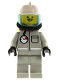 Minifig No: firec027  Name: Fire - Air Gauge and Pocket, Light Gray Legs, White Fire Helmet, Breathing Hose, Yellow Airtanks