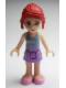 Minifig No: frnd009  Name: Friends Mia, Medium Lavender Skirt, Light Blue Top