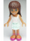 Minifig No: frnd012  Name: Friends Sarah, Light Aqua Layered Skirt, White Top