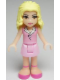 Minifig No: frnd013  Name: Friends Marie, Bright Pink Skirt, Bright Pink Sleeveless Blouse Top