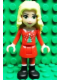Minifig No: frnd029  Name: Friends Christina, Red Skirt and Leggings, Red Long Sleeve Christmas Top