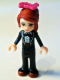 Minifig No: frnd041  Name: Friends Mia, Black Trousers, Black Formal Jacket with Bow Tie