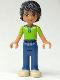 Minifig No: frnd043  Name: Friends Matthew, Dark Blue Trousers, Bright Green Polo Shirt