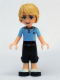 Minifig No: frnd047  Name: Friends Andrew, Dark Blue Cropped Trousers, Bright Light Blue Polo Shirt