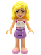 Minifig No: frnd056  Name: Friends Naya, Medium Lavender Skirt, White Top with Star Belt