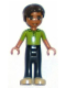 Minifig No: frnd069  Name: Friends Robert, Dark Blue Trousers, Bright Green Polo Shirt
