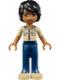 Minifig No: frnd081  Name: Friends Matthew, Dark Blue Trousers, Khaki Shirt