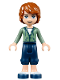 Minifig No: frnd084  Name: Friends Julian, Dark Blue Cropped Trousers, Sand Green Hoodie