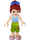 Minifig No: frnd101  Name: Friends Mia, Lime Cropped Trousers, Medium Blue Top with 3 Butterflies, Sunglasses