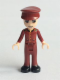 Minifig No: frnd113  Name: Friends Nate, Dark Red Hotel Boy Uniform
