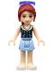 Minifig No: frnd126  Name: Friends Mia, Bright Light Blue Skirt, Dark Blue Vest Top, Sunglasses