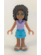 Minifig No: frnd160  Name: Friends Andrea, Medium Azure Skirt, Lavender Top