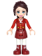 Minifig No: frnd181  Name: Friends Naomi, Dark Red Skirt with Laced Boots, Red Jacket