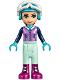 Minifig No: frnd216  Name: Friends Emma, Light Aqua Trousers, Medium Lavender Ski Vest, Helmet, Goggles (41321)