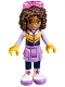 Minifig No: frnd219  Name: Friends Andrea, Medium Lavender Skirt, Ski Vest, Glasses (41323)