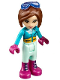 Minifig No: frnd220  Name: Friends Amy, Light Aqua Trousers, Dark Azure Top, Glasses (41323)