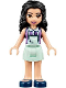 Minifig No: frnd239  Name: Friends Emma, Light Aqua Skirt, Medium Lavender Top with Light Aqua Apron
