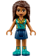 Minifig No: frnd242  Name: Friends Andrea, Dark Blue Skirt, Dark Turquoise Top