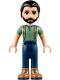 Minifig No: frnd243  Name: Friends Steve, Dark Blue Pants, Sand Green Top
