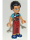 Minifig No: frnd262  Name: Friends Dean, Dark Red Trousers, Dark Turquoise Overalls Top