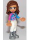 Minifig No: frnd269  Name: Friends Olivia, White Trousers, Dark Pink and Dark Azure Racing Jacket