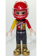 Minifig No: frnd278  Name: Friends Vicky, Trousers with Metallic Gold Boots, Red and Yellow Racing Jacket, Helmet