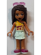 Minifig No: frnd282  Name: Friends Andrea, Light Aqua Layered Skirt, Bright Light Orange Top with Winged Music Notes, Sunglasses