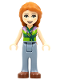 Minifig No: frnd287  Name: Friends Ann, Sand Blue Trousers, Lime Green Top with Necklace
