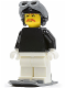 Minifig No: fst013  Name: FIRST LEGO League (FLL) Climate Connections Skier Male Black Top, Black Aviator Cap