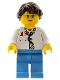 Minifig No: fst023  Name: FIRST LEGO League (FLL) Animal Allies Female Zoologist (45802)