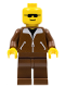 Minifig No: game003  Name: Jacket Brown - Brown Legs, No Headgear (Brown Cruiser)