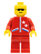 Minifig No: game005  Name: Jacket 2 Stars Red - Red Legs, No Headgear (Red Cruiser)
