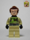 Minifig No: gb005a  Name: Dr. Peter Venkman, Printed Arms, Slimed
