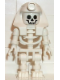 Minifig No: gen007  Name: Skeleton with Standard Skull, White Mummy Headdress