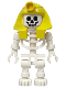 Minifig No: gen008  Name: Skeleton with Standard Skull, Yellow Mummy Headdress