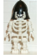 Minifig No: gen009  Name: Skeleton with Standard Skull, Black Neck Protector Helmet