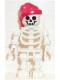 Minifig No: gen010  Name: Skeleton with Standard Skull, Red Bandana