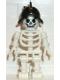 Minifig No: gen011  Name: Skeleton with Standard Skull, Black Conquistador Helmet
