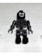 Minifig No: gen013  Name: Skeleton Black with Evil Skull