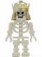 Minifig No: gen017  Name: Skeleton with Evil Skull, Crown