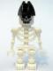 Minifig No: gen020  Name: Skeleton with Evil Skull, Bicorne Hat