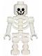 Minifig No: gen047  Name: Skeleton with Standard Skull, Bent Arms Vertical Grip
